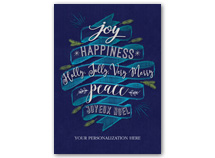 Happiness Abounds Holiday Greeting Cards